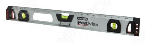Уровень магнитный STANLEY FatMax I BeamУровни<br>Уровень магнитный STANLEY FatMax I Beam относится к ручным инструментам и пригодится на стройплощадке. Корпус приспособления изготовлен из алюминия и оснащен магнитом, который облегчает проведение замеров на металлических изделиях. Мерная шкала не прерывается над средней ампулой для удобства разметки. Уровень комплектуется карандашом, который удобно крепится на корпусе. Торцевые вставки защищают уровень от повреждений при падении.<br>
