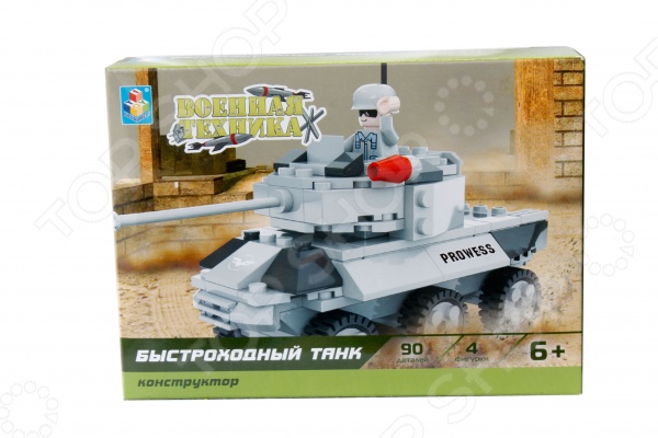 Конструктор игровой 1 Toy «Военная техника. Быстроходный танк» 1toy конструктор военная техника боевой танк 260 деталей