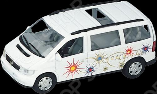 Модель машины 1:34-39 Welly MB V-Class. В ассортиментеМодели авто<br>Модель машины 1:34-39 Welly MB V-Class представляет собой коллекционную модель, являющуюся точной копией настоящего автомобиля. Большая достоверность и похожесть настоящего транспортного средства обеспечивается наличием всех деталей, которые есть в реальной жизни: зеркалами заднего вида, выхлопной трубой, фарами, открывающимися дверями. Она будет прекрасным подарком для вашего малыша, так как это не только игрушка, но и полезная вещь, во время игры с которой у ребенка развивается мелкая моторика рук, воображение и фантазия.<br>