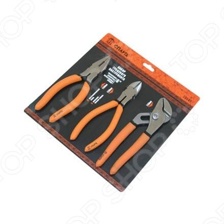 Набор губцевого инструмента из 3-х предметов SPARTA №2 набор губцевого инструмента sparta 2 13545 3 предмета плоскогубцы бокорезы клещи переставные