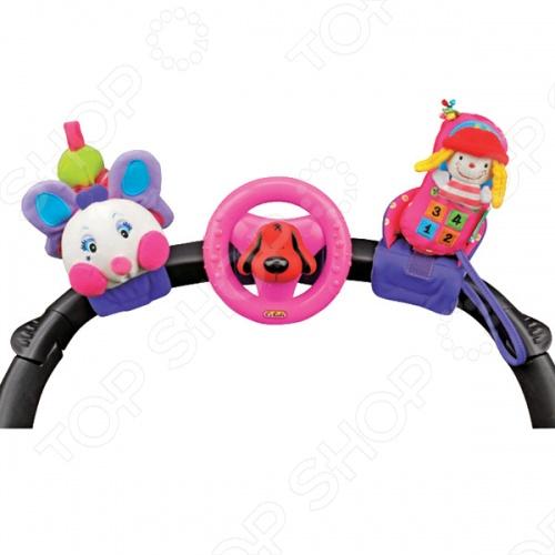Набор развивающих игрушек для коляски K'S Kids «Гусеничка, руль и телефон»