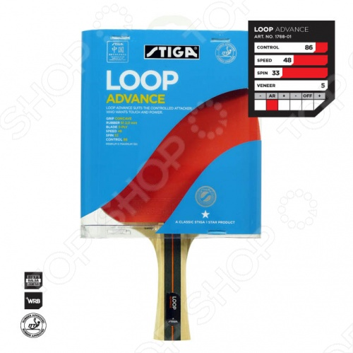 Ракетка для настольного тенниса Stiga Loop Advance WRB stiga ракетка для настольного тенниса stiga pure neon