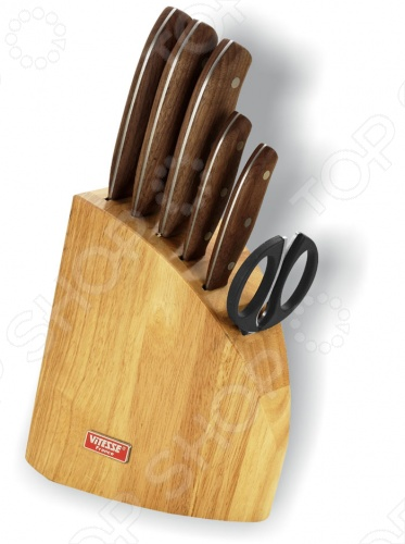 Набор ножей Vitesse Alanala прекрасно будет смотреться на вашей кухне. Ножи сделаны из углеродистой хирургической стали с добавлением хрома и молибдена для придания антикоррозионных свойств X 50 Cr Mo 15 . Имеют острую режущую кромку, удобную рукоятку и легко затачиваются. Можно мыть в посудомоечной машине.