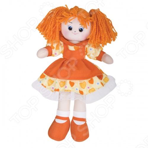 Мягкая кукла Gulliver Апельсинка в платье с сердечками