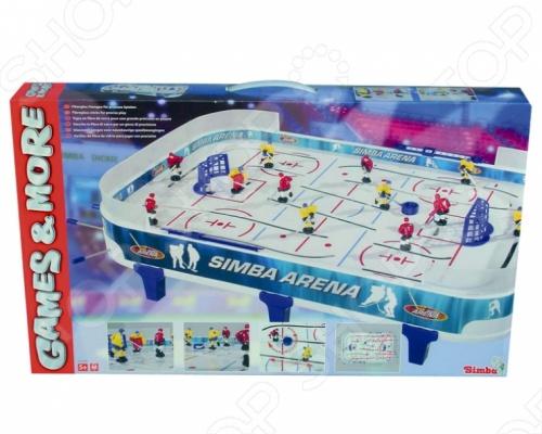 Хоккей Simba настольный увлекательная и развивающая игрушка для вашего ребенка. В набор входят: 10 игроков, 2 шайбы. Табло на бортиках стола подсчитывают счет автоматически. В игру могут играть двое ребят. Цель игры заключается в том, чтобы забить противнику как можно больше голов. Игрушка изготовлена из высококачественных материалов, которые полностью безопасны для детей. Хоккей Simba настольный поможет развить глазомер, координацию движений, отлично тренирует реакцию и ловкость рук вашего ребенка.