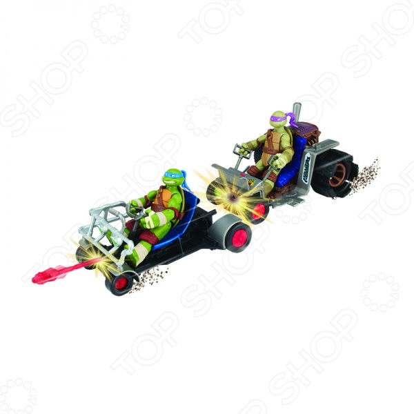 Патрульные Багги Раф и Микки Nickelodeon Черепашки-Ниндзя станут одними из самых любимых игрушек для вашего малыша. Играя с ними у ребенка будут развиваться воображение, память, чувство цвета и пространства, а так же мелкая моторика рук. Багги могут патрулировать территорию порознь или же соединиться вместе и в полном составе отбивать атаки врага. Подарите своему малышу возможность создавать собственный оригинальный игровой сюжет и весело играя проводить время с друзьями.