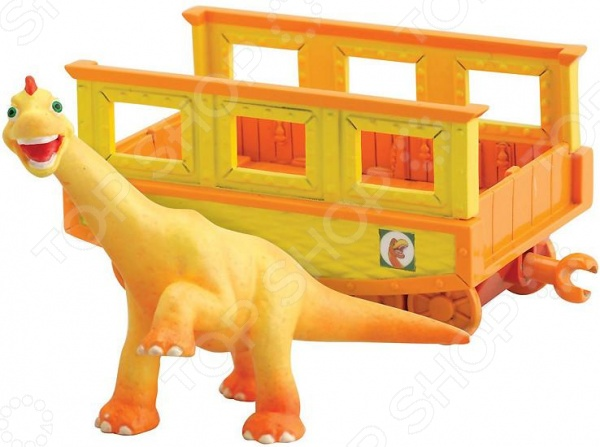 Набор игровой с фигурками Поезд Динозавров «Нэд» hasbro play doh игровой набор из 3 цветов цвета в ассортименте с 2 лет