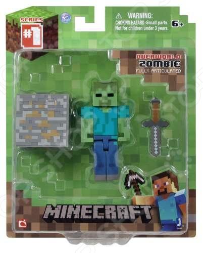 Набор игровой c фигуркой и аксессуарами Minecraft «Зомби» игрушка minecraft набор алекс с скелетом лошади игровой набор