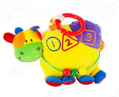 Игрушка развивающая Tillimilli КороваМягкие развивающие игрушки<br>Игрушка развивающая Tillimilli Корова представляет собой яркую и высококачественную игрушку из хлопкового плюша для малышей от 3 месяцев и старше. Конструктивные особенности позволяют развивать мелкую моторику, тактильные ощущения и цветовое восприятие развивающегося ребенка. Она изготовлена из безопасных материалов и не представляет опасности для детей.<br>
