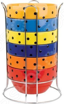 Набор мисок Bekker BK-7319Миски<br>Набор мисок Bekker BK-7319 станет отличным дополнением к вашему набору посуды и внесет яркий акцент в сервировку как обеденного, так и праздничного стола. Изделия выполнены из высококачественной жаростойкой керамики в ярких насыщенных цветах и декорированы узором в горошек . Миски многофункциональны и практичны в использовании, подходят для раскладки горячего, салатов, фруктов, печенья, конфет и т.д.<br>