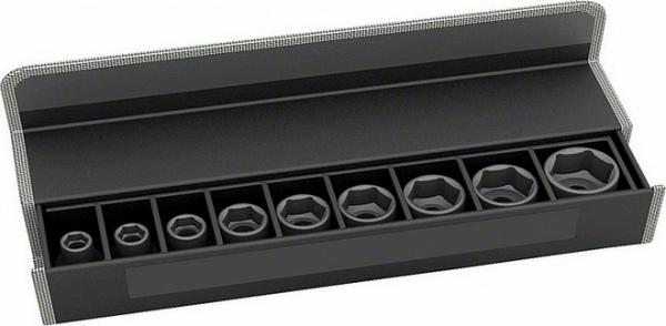 Набор головок для торцевых ключей Bosch 2608551100  набор сменных головок и насадок topex 38d669