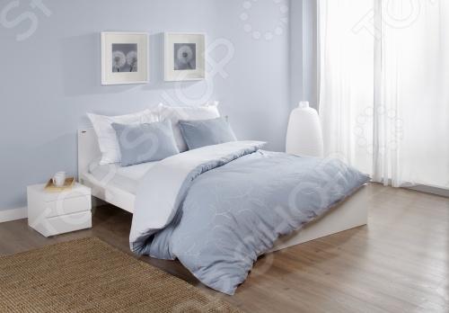 Фото Комплект постельного белья Dormeo Elipse. 1,5-спальный. Цвет: голубой