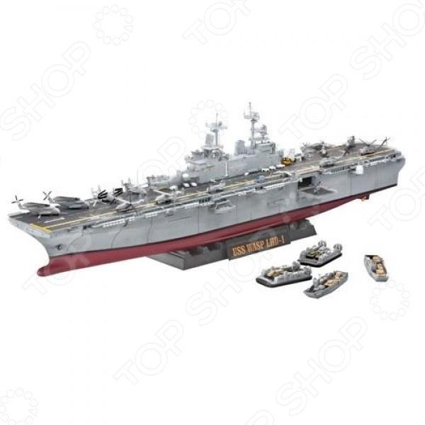 Сборная модель корабля Revell U.S.S. Wasp (LHD-1) модель корабля lhmx pinta