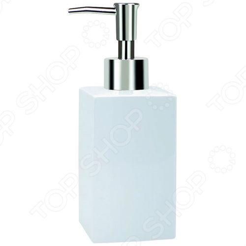 Ёмкость для жидкого мыла фарфоровая Spirella QuadroДиспенсеры для мыла<br>Ёмкость для жидкого мыла фарфоровая Spirella QUADRO незаменимая вещь в любой ванной комнате. Такой аксессуар очень удобен в использовании, достаточно лишь перелить жидкое мыло в дозатор, а когда надо воспользоваться мылом, необходимо легким нажатием выдавить нужное количество. Дозатор создаст особую атмосферу уюта и максимального комфорта в ванной.<br>