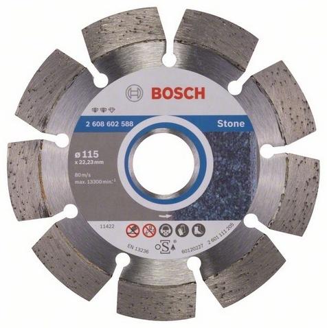 Диск отрезной алмазный для угловых шлифмашин Bosch Expert for Stone круг отрезной bosch 180х3х22 expert for stone 2 608 600 317