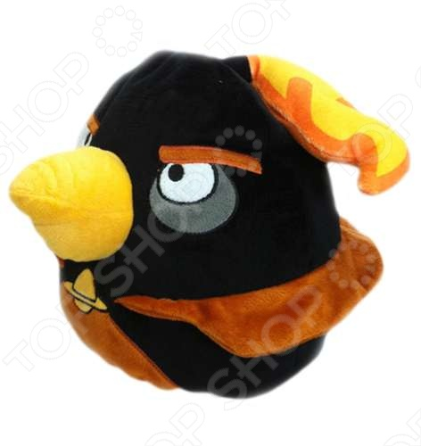 Подушка-игрушка декоративная Angry Birds Space Black Firebomb bird