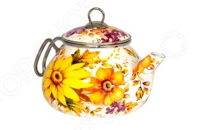 Чайник эмалированный Interos «Фантазия» хохловка дом с участком