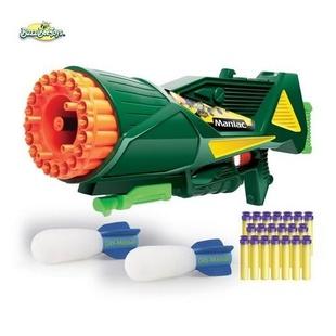 Бластер - пулемет Buzz bee Toys с ракетой игрушка buzz bee toys 16 запасных присосок 41867