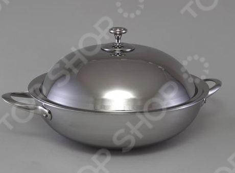 Сковорода вок с крышкой Stahlberg DELUXE 1257-S вок пароварка 2 5 л pensofal вок пароварка 2 5 л