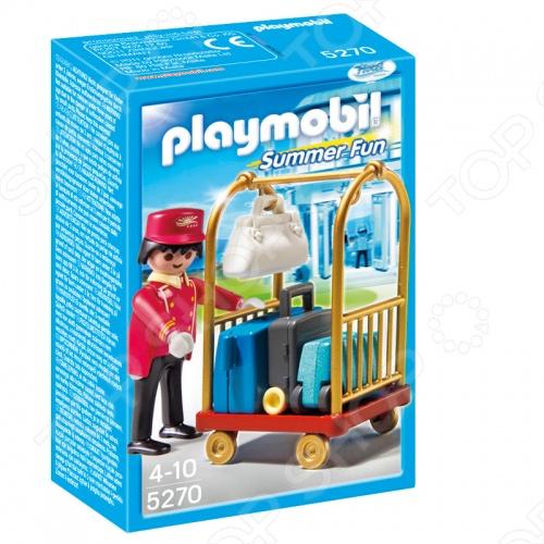 Отель:Носильщик с чемоданами Playmobil 5270pm новая красивая фигурка носильщика отеля, с носилкой и чемоданами входят в комплект . Можно использовать в играх на построенных игрушечных конструкторах. Подарите вашему малышу интересную игрушку, которая в свою очередь обеспечит хорошее времяпрепровождение за игрой с ней.