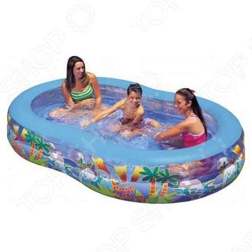 Бассейн надувной Intex 56490 надувной бассейн intex бассейн аквариум 152 56см