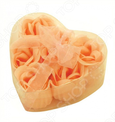 Цветы мыльные Банные штучки «Розы в Сердце» 6 штук. В ассортименте Мыльные цветы Банные штучки