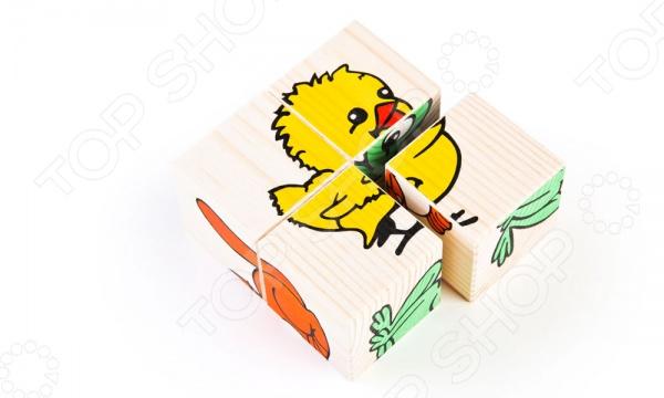 Кубики Томик «Животные» развивающие деревянные игрушки кубики животные