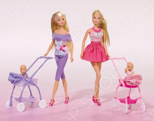 Кукла штеффи с малышом Simba 5733067 кукла yako m6579 6