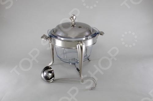 Супница-мармит круглая Stahlberg 5038-S из нержавеющей стали с зеркальной полировкой подойдет для подачи на стол супа или горячих блюд. Стеклянный контейнер можно использовать в микроволновой печи и мыть в посудомоечной машине. Мармитом удобно пользоваться и на открытом воздухе. Они выручают хозяек при длительных застольях, на пикниках, и просто тогда, когда подолгу не удается усадить всю семью обедать. Еду не придется подогревать снова и снова.