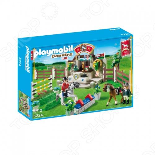 Лошади:Манеж для выездки и конкура Playmobil 5224pm комплект фигурок с лошадками и манежом, которые можно использовать в играх на построенных игрушечных конструкторах или на улице, в песочнице. Подарите вашему малышу интересную игрушку для приятного времяпрепровождения.