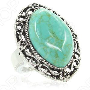 Кольцо Fashion Jewelry Византия браслет из прессованной бирюзы винтаж