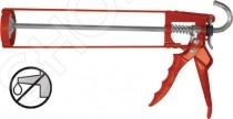 Пистолет для герметика FIT 14226 предназначен для того, чтобы выдавливать герметик из тубы для нанесения его на поверхность для герметизации различных отверстий и швов. У пистолета есть противокапельная система, так что это поможет вам сохранить чистоту на вашем рабочем столе. Предназначен для работы со стандартными емкостями объемом 310 мл.