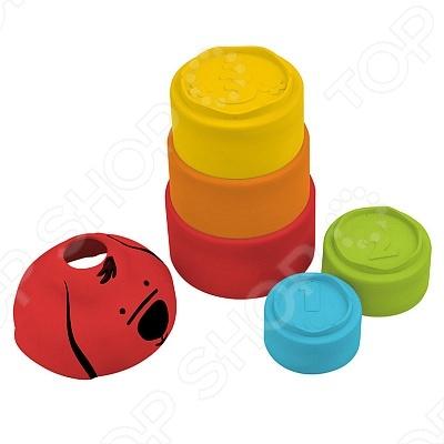 Пирамидка Патрик станет замечательным подарком для вашего малыша. Пирамидка состоит из радужных стаканчиков 5 цветов , которые можно сложить в одно целое. Благодаря данной игрушке малыш с легкостью научится различать цвета. Игрушка помогает развить моторику, а также логическое мышление.