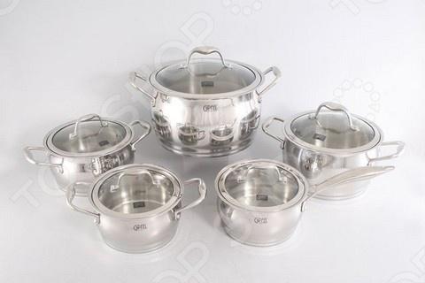 Набор кухонной посуды Gipfel CANTATA 1538 кастрюля 24 см 6 5 л н с 18 10 термоаккум дно ст кр мет руч