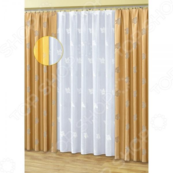 Комплект штор Haft 50110-250Шторы<br>Комплект штор Haft 50110-250 это качественный оконный занавес, который преобразит интерьер и оживит атмосферу, придав всей комнате домашний уют, завершенность и оригинальность. Шторы изготовлены из полиэстера, который практически не мнется, легко отстирывается от загрязнений, не притягивает пыль и не требует глажки. Благодаря этому ткань способна выдержать сотни стирок без потери цвета и прочности. Обычные материалы со временем выгорают, на них собирается пыль, появляются неприятные запахи. С полиэстером этого не происходит штора почти не пачкается и не впитывает запахи, при этом вы очень легко ее постираете и высушите. Интерьер квартиры или дома, в котором окна не украшены занавесом, сегодня трудно представить, поэтому шторы станут отличным подарком для любого человека. Купить шторы способ недорого, быстро и изящно преобразить дизайн домашнего интерьера!<br>