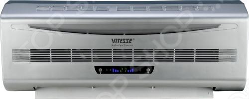 Тепловентилятор Vitesse VS-892Термовентиляторы<br>Керамический тепловентилятор Vitesse VS-892 подойдет для размещения на стене. Имеет электронное управление со светодиодным дисплеем и пульт ДУ. Способен обогревать помещения до 20 квадратных метров. Также есть 30-ти секундный таймаут, вентиляция без нагрева и защита от перегрева автоматическое прекращение и возобновление обогрева .<br>