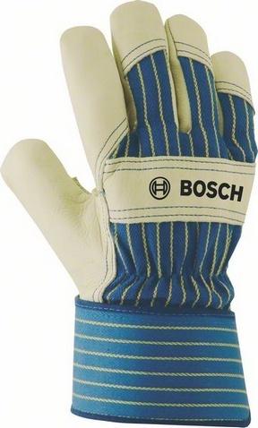 Перчатки защитные Bosch GL FL 11Одежда рабочая<br>В любой работе, особенно той, что связана с обработкой поверхностей, высокими температурами, загрязнениями и механическими воздействиями очень важно надежно защитить руки работающего человека от возможных повреждений, ударов и рывков. Перчатки защитные Bosch GL FL 11 как нельзя лучше подходят для таких целей. Рабочая поверхность из говяжьего спилка, прорезиненные манжеты, которые легко зафиксировать на запястье, малый вес, делают их замечательным помощниками в любых манипуляциях. Используя их, вы всегда будете уверены в том, что ваши руки или руки ваших работников останутся в сохранности и позволят им выполнить необходимые работы качественно и в срок.<br>