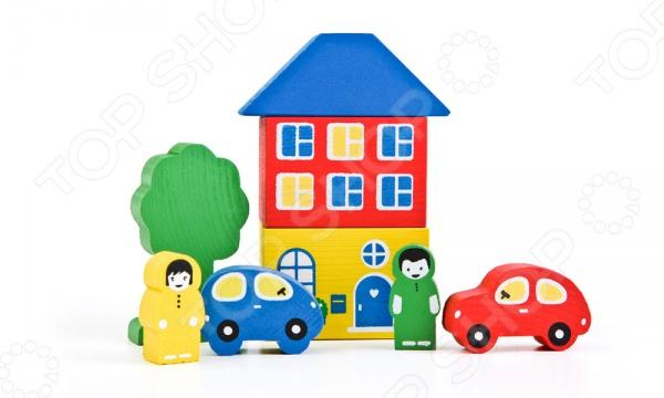 Конструктор для малышей Томик «Цветной городок» томик деревянный конструктор цветной 26 деталей