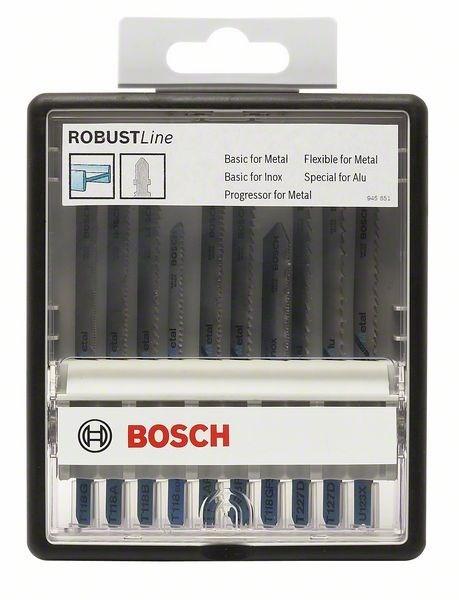 Набор пильных полотен Bosch Robust Line Wood Expert с T-образным хвостовиком 2607010541
