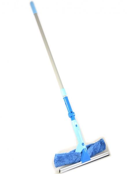 Щетка для мытья окон 2 в 1 с телескопической ручкой и поворотным шарниром Hausmann ADF1768