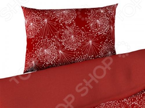 Фото Комплект постельного белья Dormeo Mirabel. 1-спальный. Цвет: красный