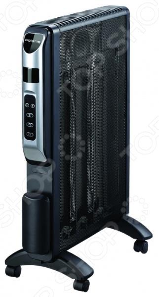 Микатермический обогреватель Polaris PMH 1596RCD предназначен для быстрого обогрева помещения и поддержания оптимальных климатических условий в квартирах, домах и офисах. Прибор практичен и удобен в использовании, сочетает в себе непревзойденное качество и стильный современный дизайн. Основным преимуществом обогревателей такого типа является то, что он не сушит воздух и не сжигает кислород. Модель работает в двух температурных режимах; оборудована электронным термостатом, функцией климат-контроль, системой защиты от перегрева и опрокидывания, таймером, пультом дистанционного управления и колесиками для удобства перемещения