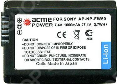 Аккумулятор для телефона AcmePower AP-NP-FW50 аккумулятор для фотокамеры 3pcs np fw50 np fw50 npfw50rechargeable li ion sony nex 3 nex 5c a55 nex 7 nex c3 np fw50