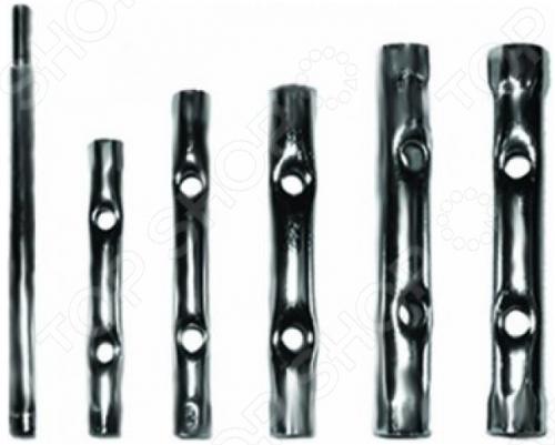 Набор ключей трубчатых КФ 136555 двустороннего типа. Состоит из 10 штук на 6-22 мм. Ключи изготовлены из надежной инструментальной стали.