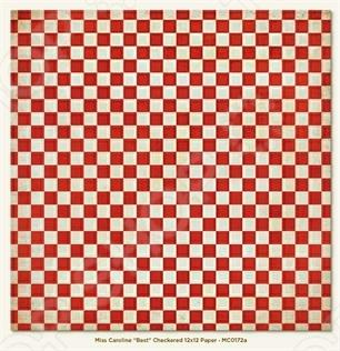 фото Бумага для скрапбукинга двусторонняя Morn Sun Checkered, купить, цена