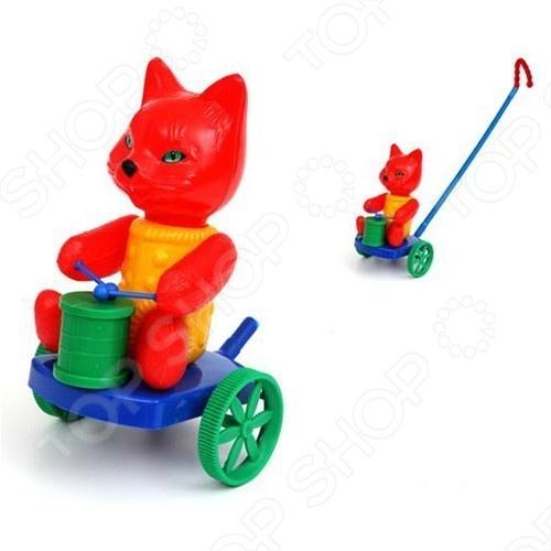 Каталка Shantou Gepai «Кот с барабаном». В ассортименте