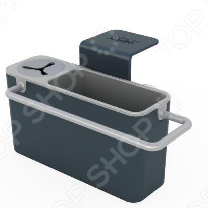 Органайзер для раковины навесной Joseph Joseph Sink Aid станет отличным дополнением к набору ваших бытовых принадлежностей. Изделие универсально и практично в использовании, представляет собой удобную подставку-держатель для хранения щеточки для мытья посуды, ершика, губки и тряпки. Для каждого из предметов выделен специальный отдельный отсек. Изделие выполнено из высококачественного ударопрочного пластика и ПВХ, весьма удобно и практично в использовании. Органайзер можно мыть в посудомоечной машине.