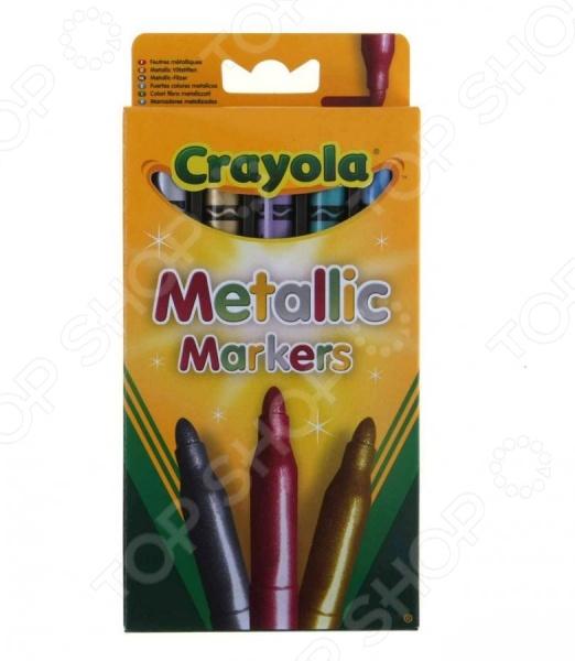 Набор маркеров Crayola Metalic MarkersМаркеры и карандаши<br>Набор маркеров Crayola Metalic Markers представляет собой замечательное средство, с помощью которого ребенок сможет выразить свои эмоции, чувства, переживания и фантазии на бумаге или же другой, подходящей для рисования поверхности. Творческие способности, заложенные в каждом малыше стремятся к развитию и должны развиваться, поэтому задача взрослых, обеспечить его всем, для этого, необходимым. Материалы из которых изготовлен набор маркеров Crayola Metalic Markers, абсолютно безопасны для малыша и вы можете не беспокоится о том, что они вызовут аллергическую реакцию, а металлический эффект придаст рисунку яркости и реалистичности.<br>