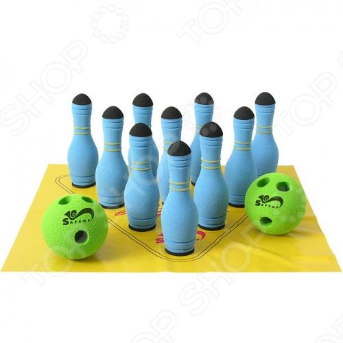 Игра Safsof «Мини-Боулинг» 10 кеглей в сумке. В ассортименте