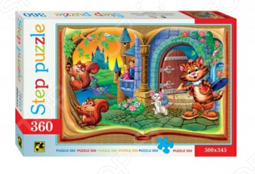Пазл Step Puzzle Кот в сапогах, 360 эл. увлекательное хобби для всей семьи, позволяющие увидеть весь мир, не выходя из дома. Пазлы активно развивают мышление, внимание и память.